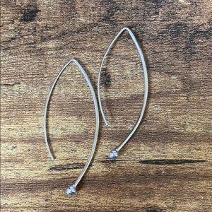 Spheres on Wires Drop Earrings